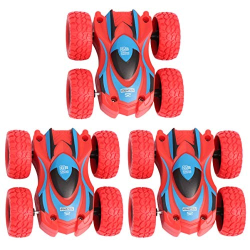 NUOBESTY Double-Sided Inertia Car Toy Kids Educational Playing Toy Children Funny Stunt Car Toy