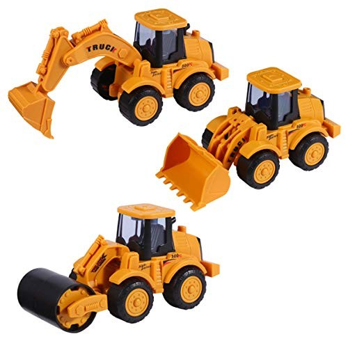 NUOBESTY 3pcs Engineering Vehicle Toys Inertia Toys Mini Cars Toys Truck Toys Early Educational