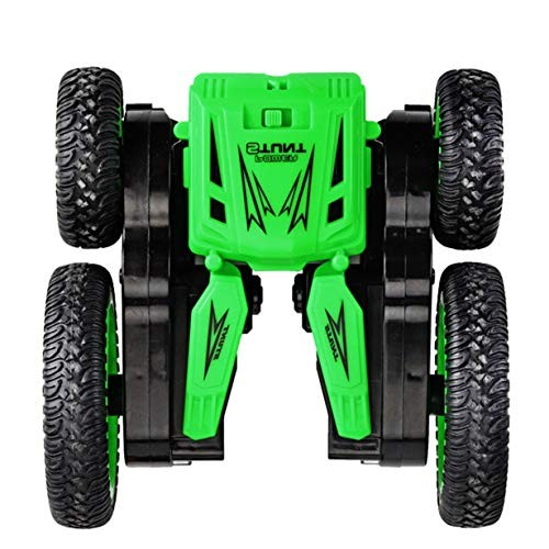 JHZTOY 24G Remote Control Rotating Double-Sided Stunt Car with Light Dump Truck Deformable Toy