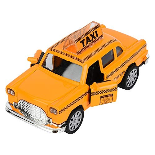 A sixx Taxi Simulation Vehicle Model Toy Clockwork Drive Kid Toy Car with Sound