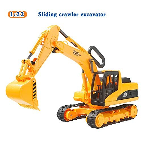 Sliding Crawler Excavator Toy 1/22 Scale Digger Construction Tractor Toy Engineering Vehicle Construction 360