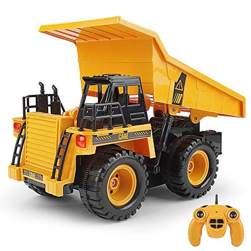DUOUH 24G Remote Control Dump Dump Truck Car Truck with Engineering Car Music Children