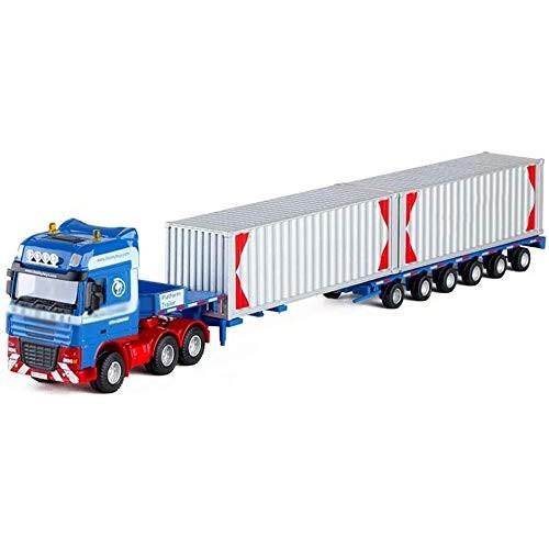 Zeyujie 1:50 Heavy Flat Transport Truck Container Cloak Big Truck Simulation Alloy car Model