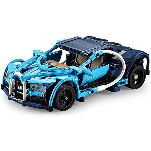 Zeyujie Assembled Puzzle Building Blocks Blue six in one Pull Back car Assembled Toy