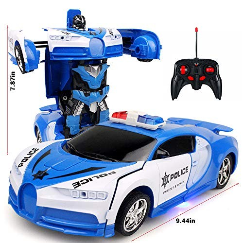 TiTaKa 2 in 1 RC Car Driving Sports Cars Drive Deformation Robot Model Remote
