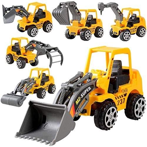 JTSYUXN 6Pcs Construction Vehicle Truck Push Engineering Toy Cars Children Kid Play Vehicles