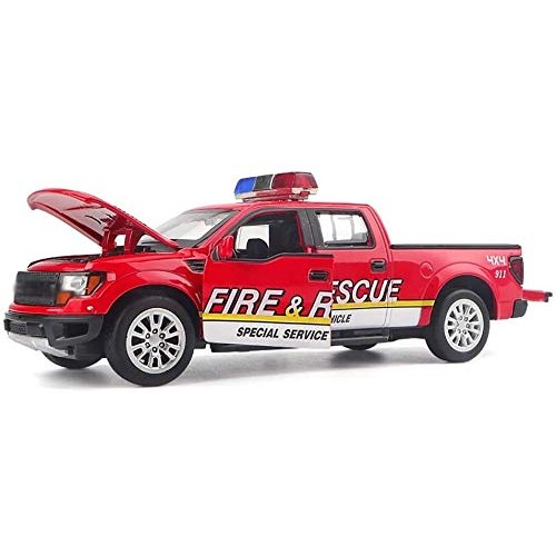 Zeyujie 1:32 Force Control fire Truck Model Simulation Alloy car Model Sound and Light