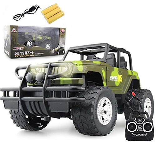 ZH Remote Control Jeep Model Car Toys 24G Electric RC Trucks Rechargeable 4 Channel