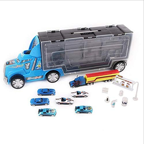 SHANGU Friction Transport Carrier Truck Toy Construction Cars Transporter Including A Total of 6