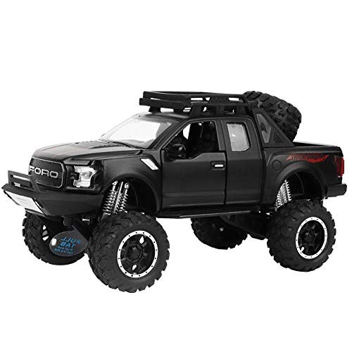 Alloy Toy Car for Kids Electric Car LED Light Diecast Cross-Country Vehicle Model Toy
