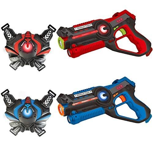 HISTOYE Laser Tag Sets with Gun and Vest Battle Mega Laser Tag Guns for