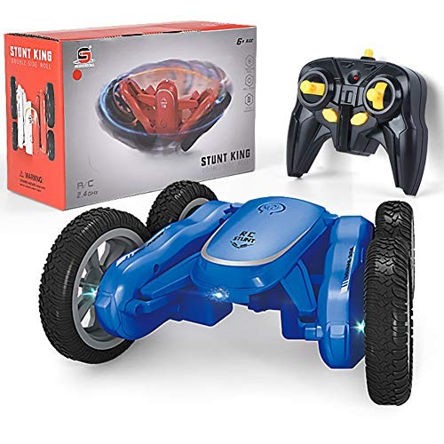 ZH Children Vehicle Remote Control Car Electric Toy Double Sided Car 360 Rotating Children's