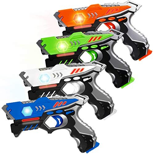 HISTOYE Laser Tag Guns Set of 4 Laser Tag for Kids 4 Player Pack