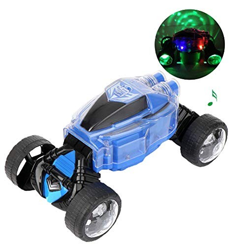 DUOUH Electric Twisted Car Remote Control Car with Light and Music Suitable for 1-3