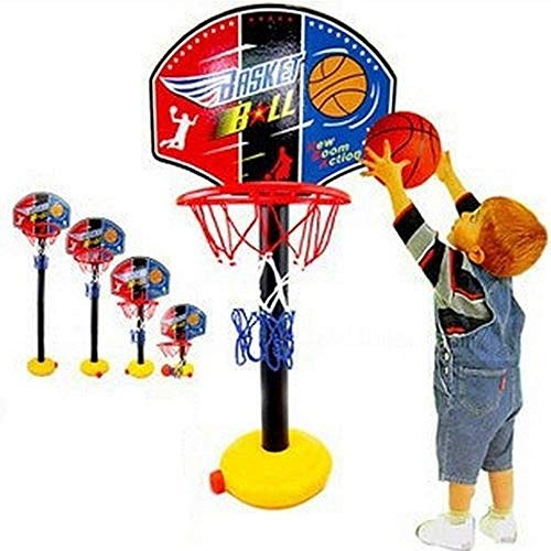 GONGFF Child Baby Portable Shooting Basketball Foam Frame Hoop Sports Toys Classic Adjustable Height