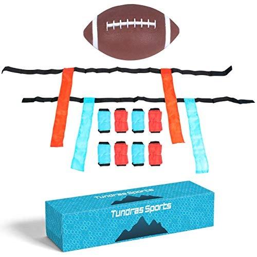 Flag Football – Supreme Kids Flag Football Set Complete 12-Player Set Includes Football and