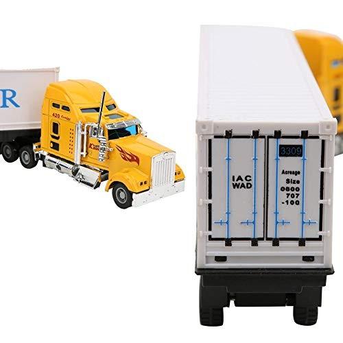 Diydeg Inertia Toy Car Clockwork Drive Container Truck Toy Inertia Toy Car Kids Play