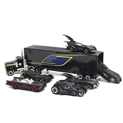 H-LML Children's Racing Toy Alloy Chariot Set Toy 6 Cars with Container Truck Children's