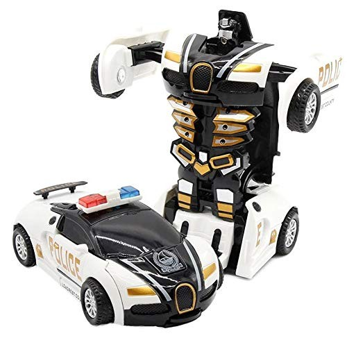 Luck Baby Impact Deformation Police Car Children's Toy Deformation Car Robot Coasting One-Key Transformation
