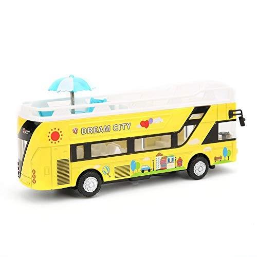 Car Model Vehicle Set Bus Model Sightseeing Alloy Kids Play Car Set for Gift