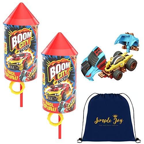Boom City Racers 2-Pack – Rip Race Explode! Simple Joy Toys Gift Bundle