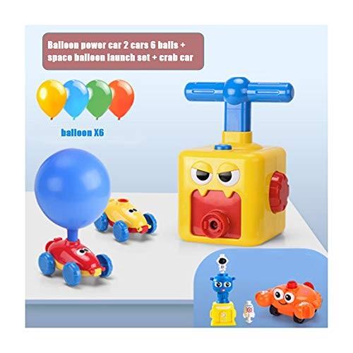 ZENGYUE Inertia Balloon Powered Car Toys Aerodynamics Inertial Power Kids Toys