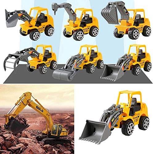Countia Keland 6Pcs Construction Vehicle Truck Push Engineering Toy Cars Children Kid Play Vehicles