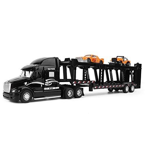 YOUTHINK Toy Vehicles 35CM Alloy Truck Model Highly Simulation 1:48 Car Transporter Light Sound