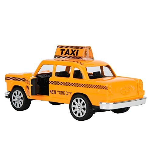 Taxi Simulation Vehicle Model Toy 1:32 with Sound and Light high Simulation Kid Toy