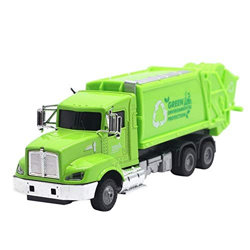 Shuohu 1/43 Alloy Pull Back Sanitation Trash Car Action Figure Model with Music LEDKids
