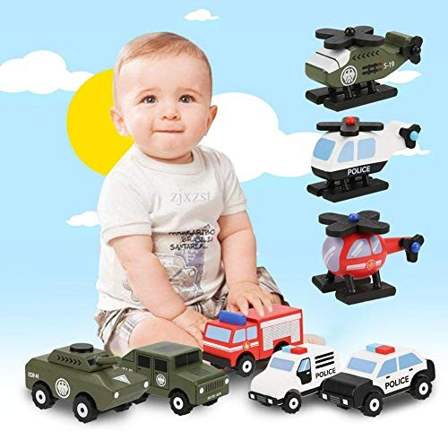 Wooden Material Toy car Wooden car Bright Color Eco-Friendly Parent-Child Interaction Baby for Kids
