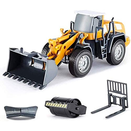Zhangl Crawlers Engineering Car Children's Toy Set Mini 4-in-1 Car Model Forklift Simulation Toy