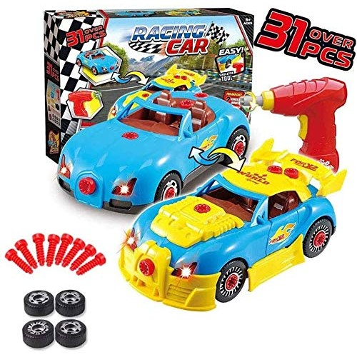 Zhangl Crawlers Children's Detachable Engineering car disassembly boy Hands-on Puzzle Assembly Toy car Screw