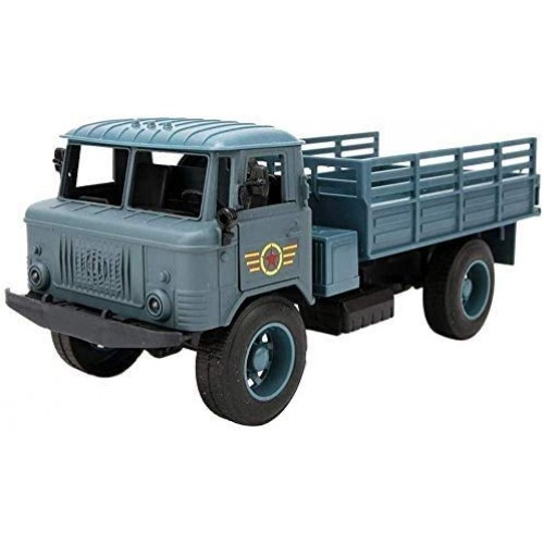 YLJJ Model Car Simulated Sound Light Military Truck Car Model Alloy Die Cast Pull