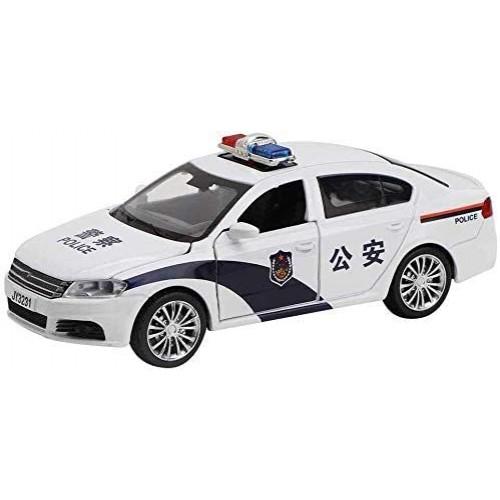 YLJJ Model Car 1:32 Kids Pull Back Car Toy Simulation Police Model Children's Gift