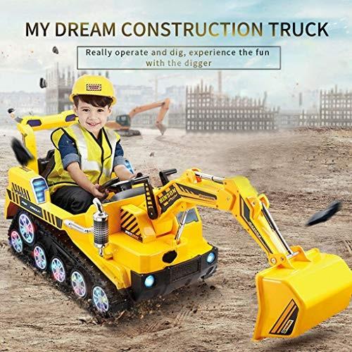 [US Stock] Kids Ride-on Construction Excavator FD-2811 24G Crawler Bulldozer Shovel Digger Manned Dual