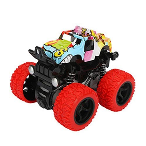 Jinguio 1Pc Inertia Four-Wheel Drive Vehicle Climbing Simulation Car Toy Model Toy Organizers