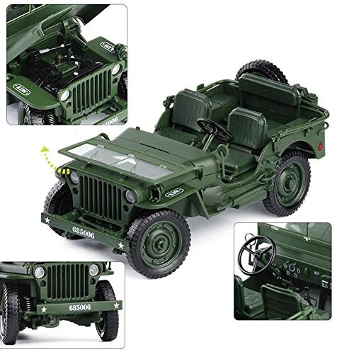ZH Toy Model Car Children Vehicle 1:18 Tactical Military Military Vehicles Alloy Car Model