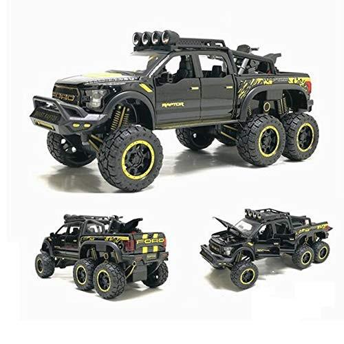 ZH Model Car Children Vehicle Simulation 1:24 Children's Toy Alloy Off Road Vehicle Model
