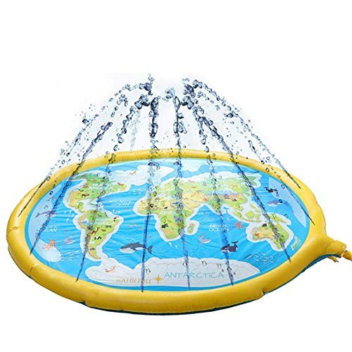 ZnMig Water-Filled Play Mat Sprinkler Pool Inflatable Water Toys Large Outdoor Swimming Pool for
