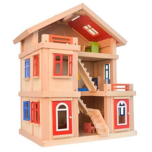 Dollhouse Kit Girl Play House Large Villa Set Three-Story Doll House Children's Educational Toys