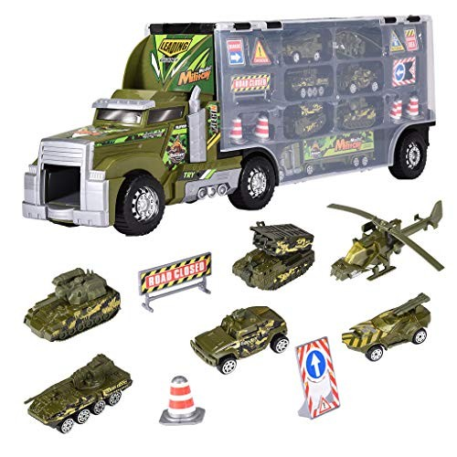 Truck Transport Car CarrierMini Toy Truck Includes 6 Toy Cars & AccessoriesGreat Car Toys