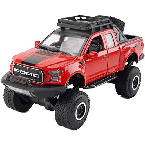 YLJJ Model Car Model Car Alloy Children's Toy Truck 1:32 Sounds Lights Open Door