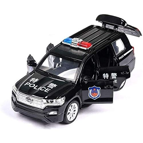 Zhangl Boxed Simulation 1: 32 Toy Police Car 6 Open The Door with Sound