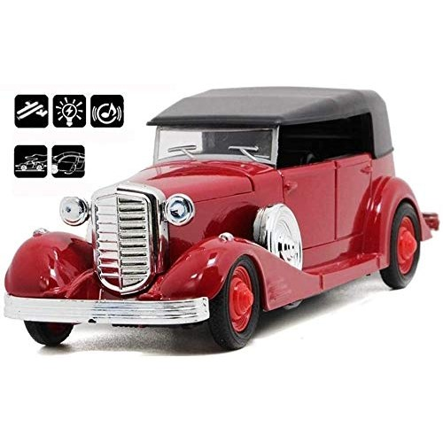 Zhangl Alloy Retro Door Classic Vintage car with Pull Back Action and Open Doors