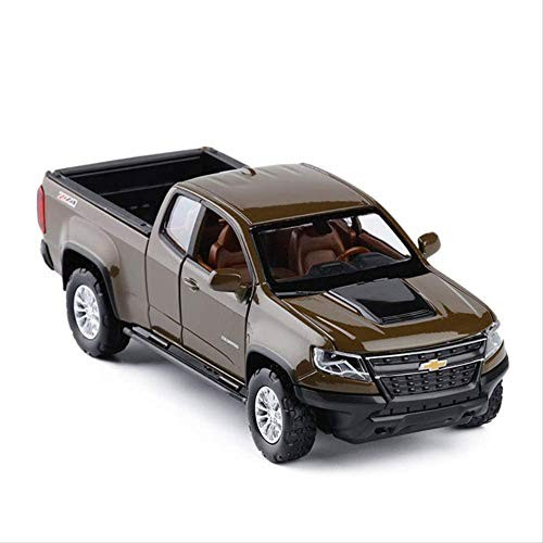 Logo 1/32 Colorado Pick Simulation Vehicle Off-Road Model Alloy Pull Back Toy Car Collection