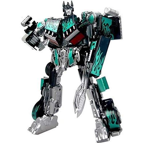 LNNZPL Children's Deformation Toy Transformers 5 Optimus Sound and Light Robot Model Boy Toy