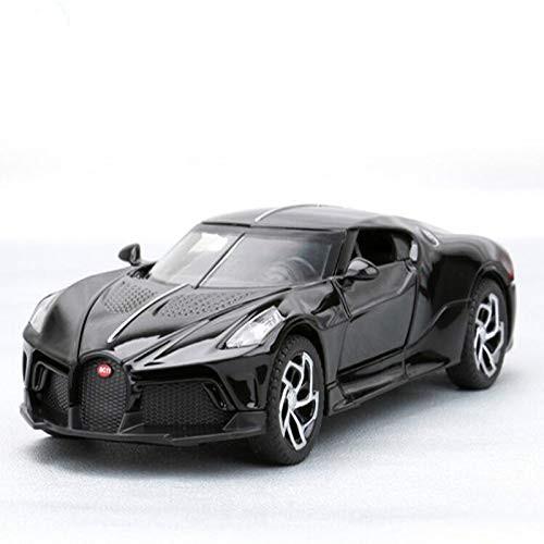 1:32 Alloy Toy Car Bugatti La Voiture Noire Metal Toy Vehicle Sound and Light