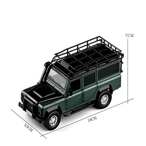 1:32 High Simulation Land Rover Defender Travel Edition Off-Road Vehicle Six Doors Sound and