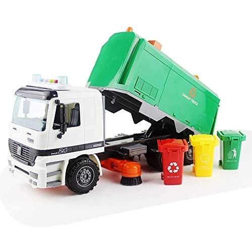 Zhangl Sanitation Car Sweeper Model High Simulation Inertia Garbage Truck Sanitation Car Model Toy